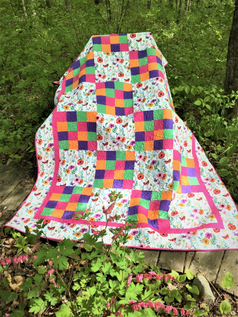 Pretty in Print Quilt by Sew STEM