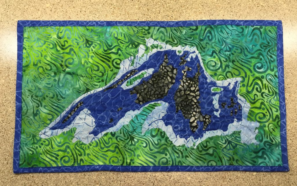 Lake Superior Bathymetry Quilt Pattern Cover